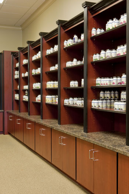 Store displays for modern pharmacy design for Modern pharmacy design