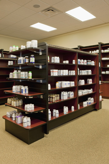 shelf obsessed pharmacy interior design - Pharmacy Design Ideas